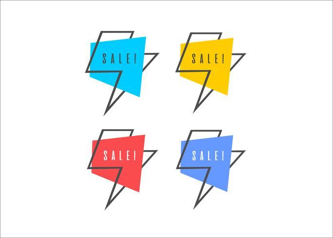 Minimal modern flash sale vector shopping ribbons