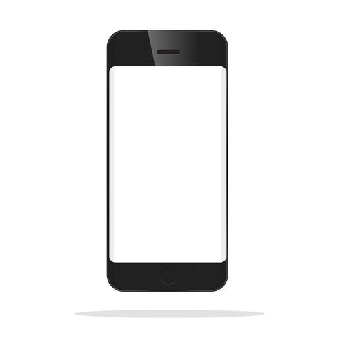 Den främre modellen på den svarta smarttelefonen.