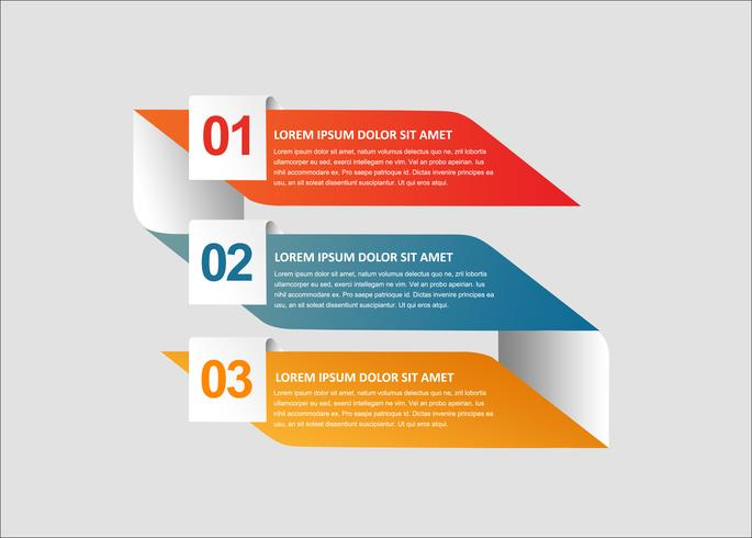 Moderne infographic vector creatieve banners