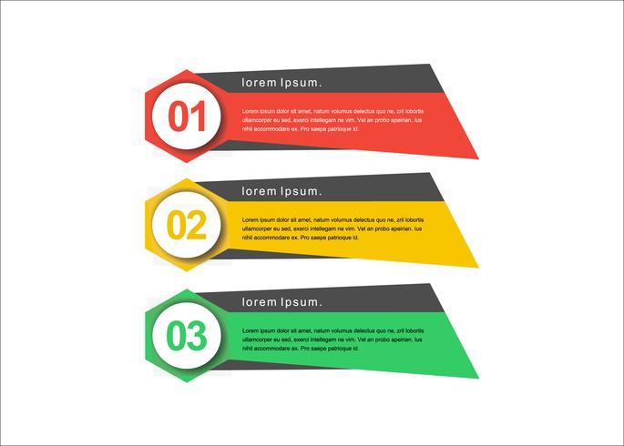 Banners de presentación creativa vector moderno