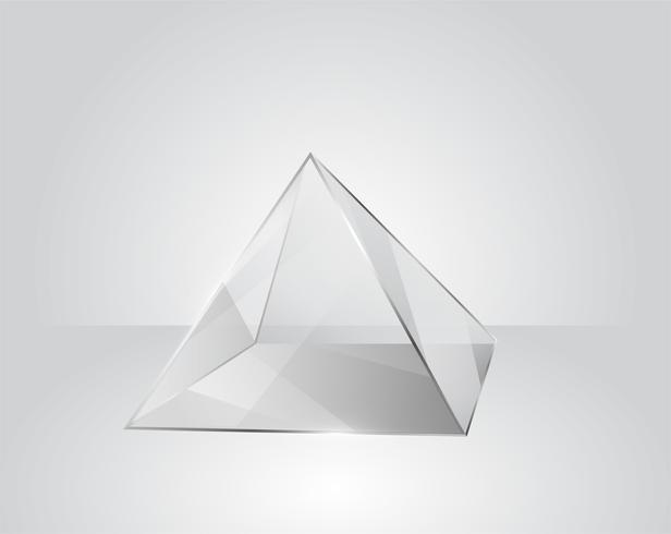 Optique Physique. La lumière blanche brille à travers le prisme. Produire des couleurs arc-en-ciel dans illustrator.