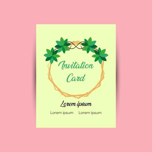Einladungskarte Design-Vorlage