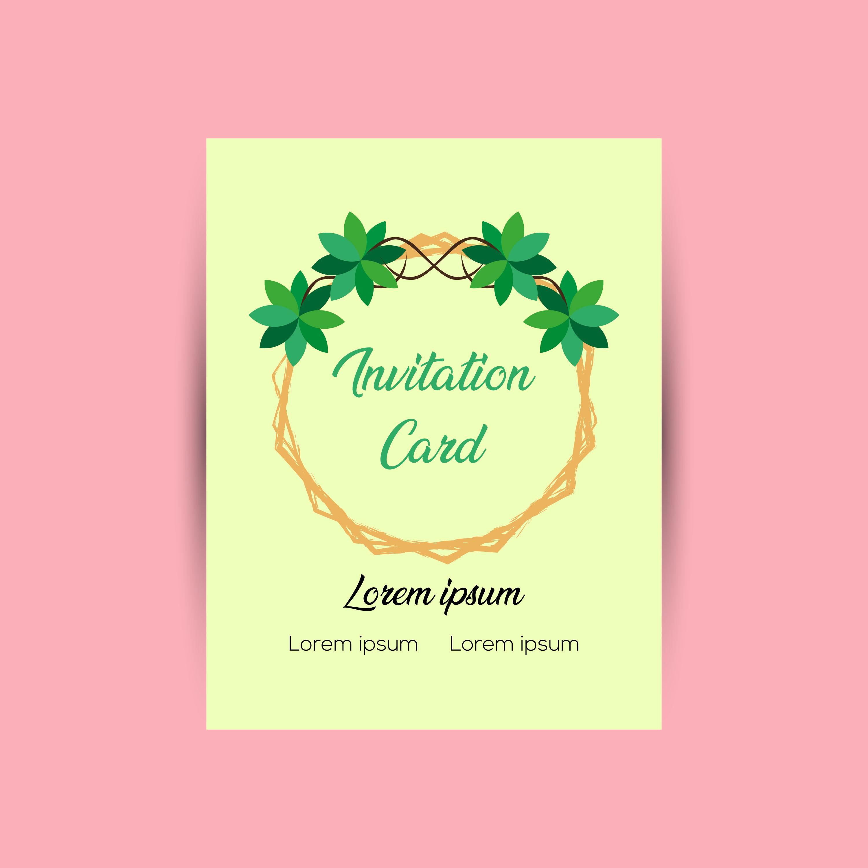 invitation card design template 594112  download free