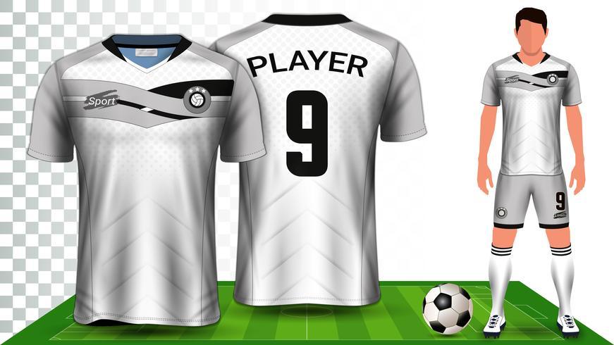 Voetbalshirt, sportshirt of voetbal Kit uniform presentatie mockup sjabloon.