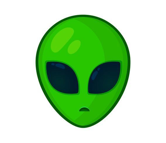 Het hoofd en het gezicht van de buitenaardse vorm eenvoudig.