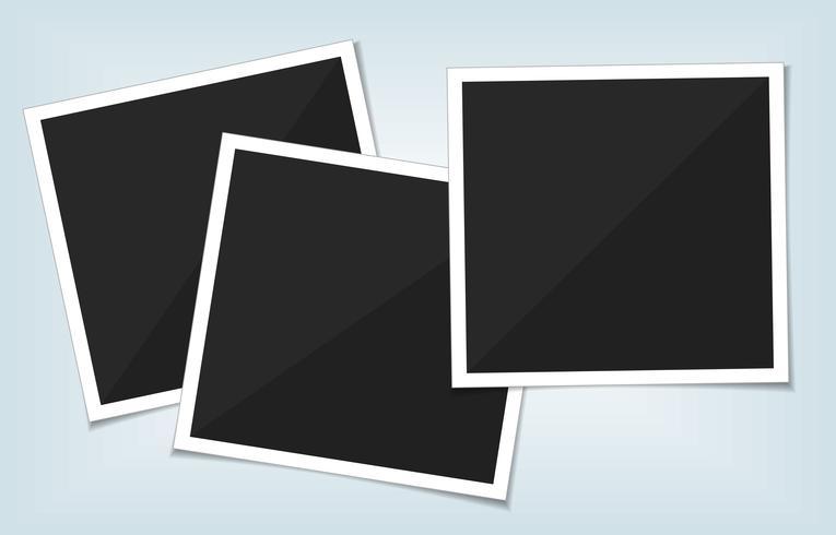 Ensemble de vecteurs de cadre photo modèle. isoler sur fond transparent.