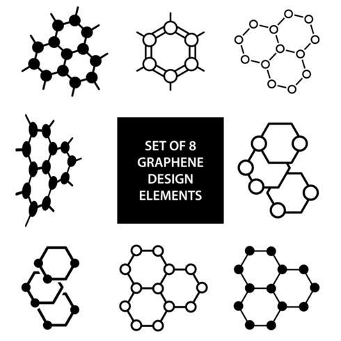 Set of graphene vector design elements