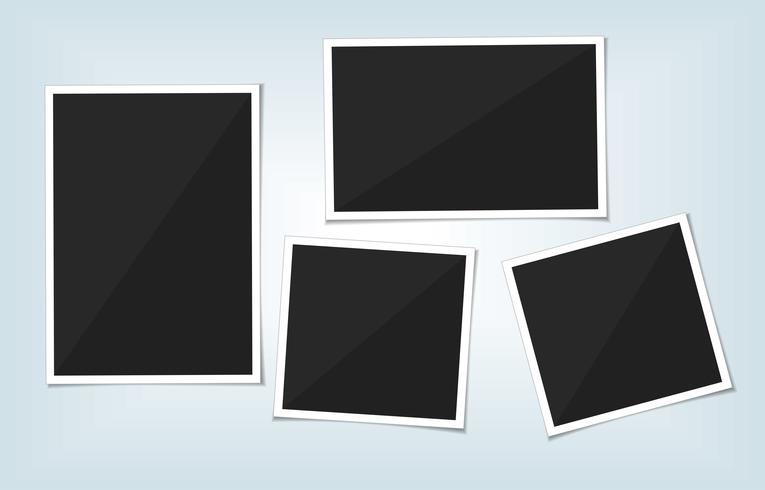 Vector set of template photo frame. isolate on transparent background.