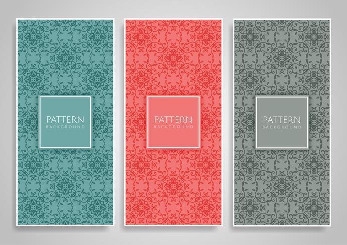 Decorative pattern banners set