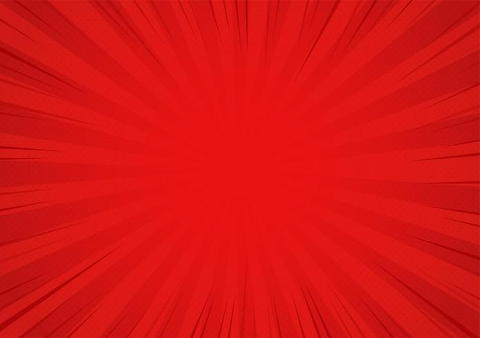 Fundo cômico vermelho dos desenhos animados. Projeto de ilustração vetorial.