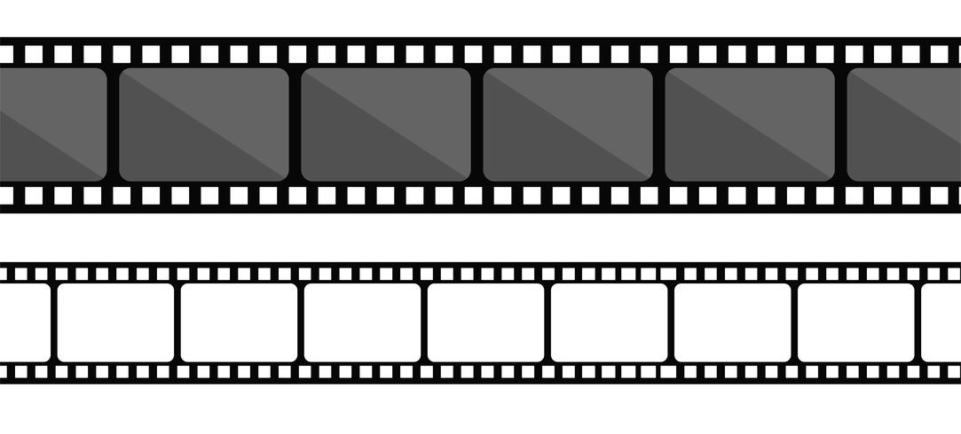 Collection de bandes de film. Vector isoler sur fond blanc.