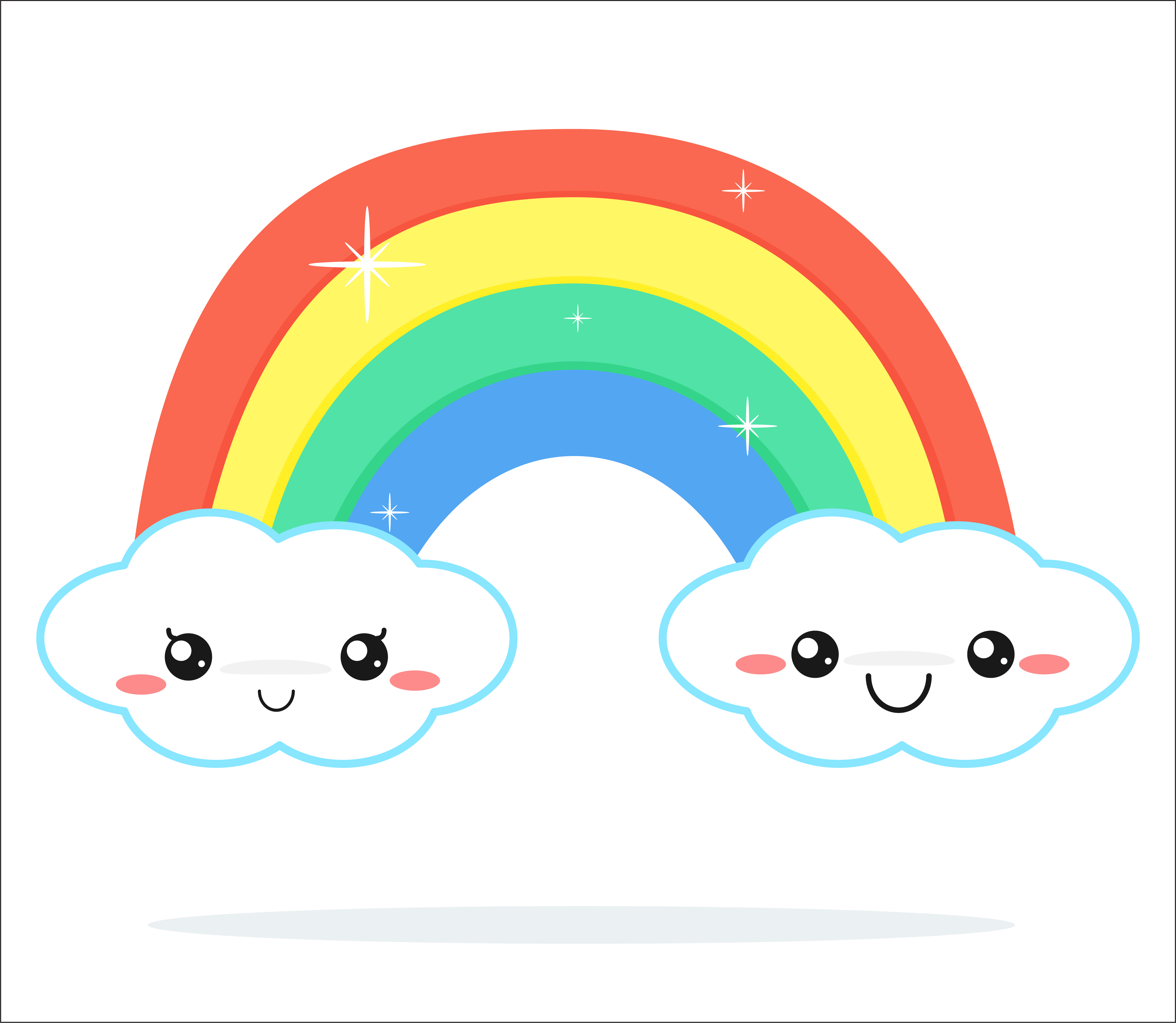 Weather forecast vector cute kawaii cartoon. - Download ...