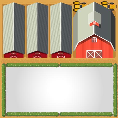 Landelijke boerderij grenssjabloon vector