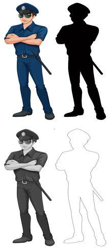Ensemble de personnage de policier