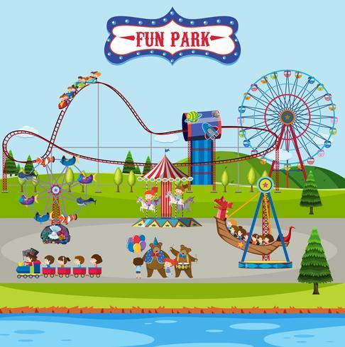 Parque de diversões e passeios