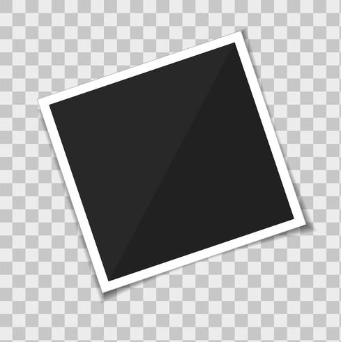 Vector template photo frame. isolate on transparent background.
