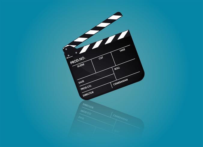 Grabado de la película de director. Vector de ilustración EPS10.