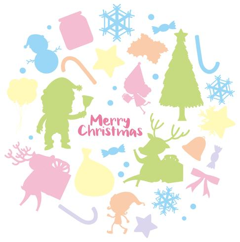 Weihnachtskartenschablone mit Schattenbildhintergrund