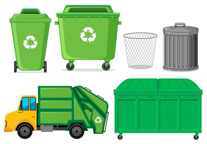 Set di bidone della spazzatura