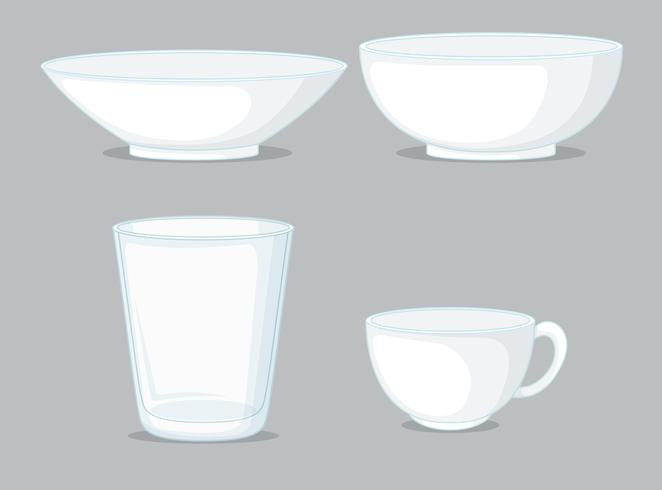 Set of glassware container