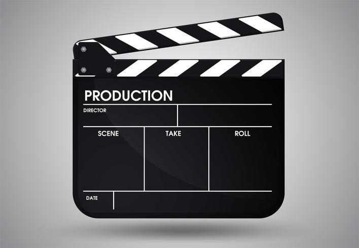 Slate of director film. Illustration Vector EPS10.