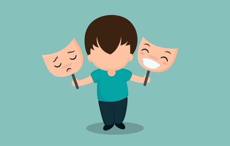 Mannen met bipolaire symptomen of depressie en moeten een psychiater raadplegen