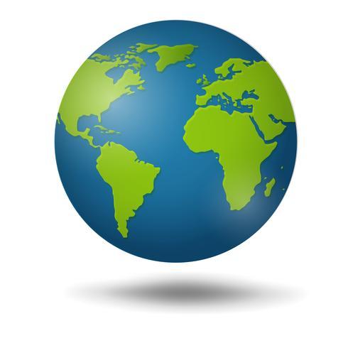 Globe terrestre isolé sur fond blanc. vecteur