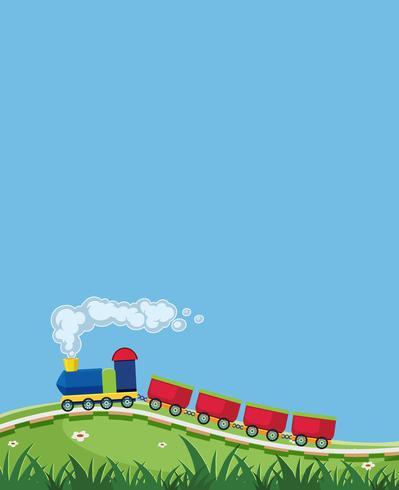 A train in nature template