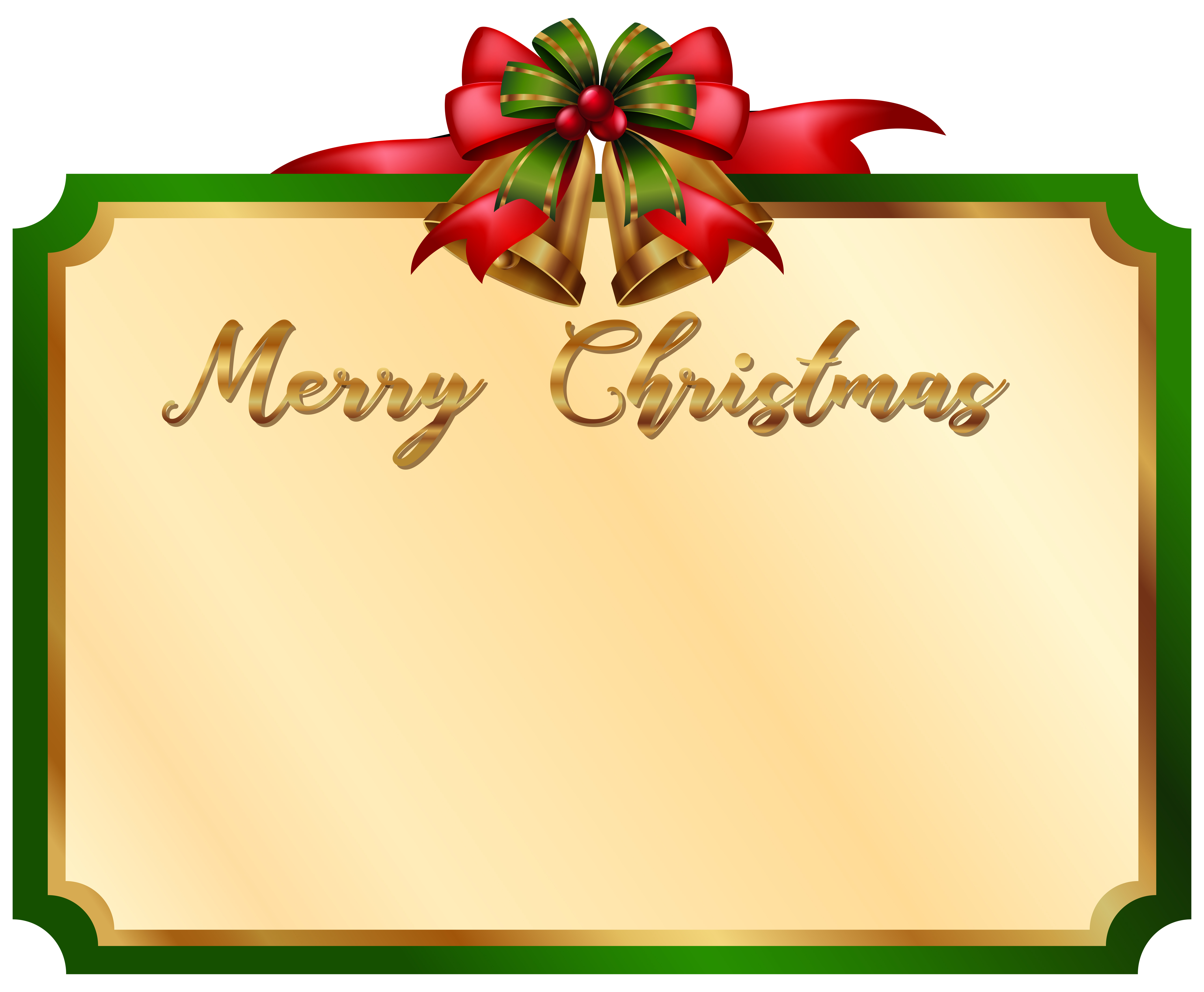 merry christmas card with green border 594430  download