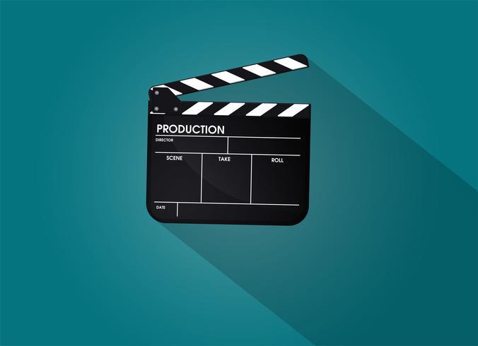 Pizarra del director de cine. Vector de ilustración EPS10.
