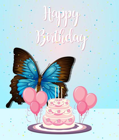 Butterfly on birthday frame