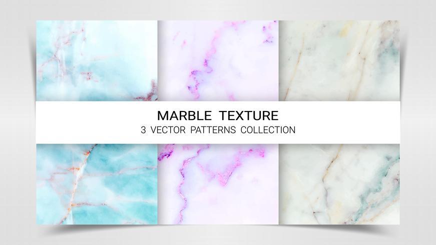 Hintergründe und Texturen von Marmor Premium Set Patterns Collection Template.