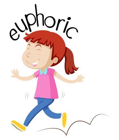 Vocabulaire fille anglaise euphorique