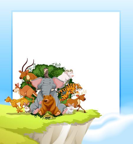 A wild animal frame