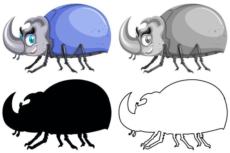 Set of beetle bug