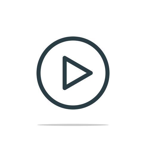 Play Button Icon Logo Template Illustration Design. Vector EPS 10.