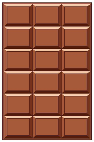 Een chocoladereep op witte backgrounf