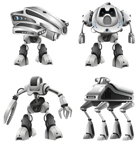 Set of different robots
