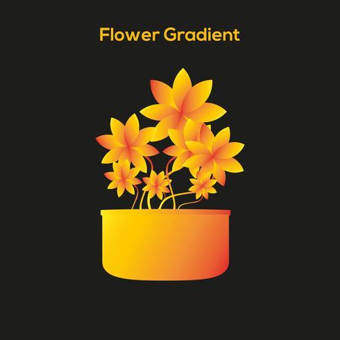 Flower Tob Entwurfsvorlage vektor