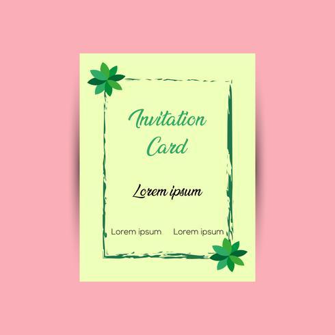 Modèle de conception de cartes d'invitation vecteur