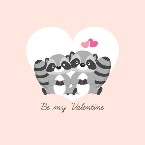 Feliz dia dos namorados cartão de saudação. Os cervos do par caem no amor.