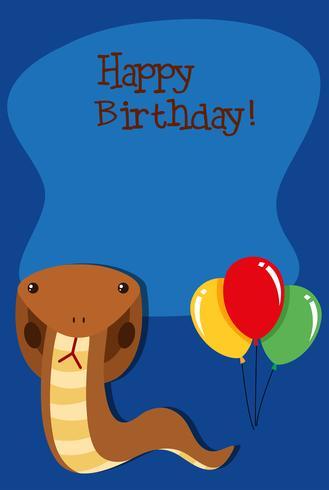 Schlange auf Geburtstag Vorlage