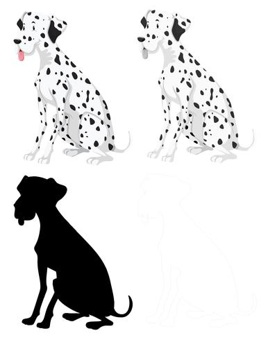 Set of dalmation dogs