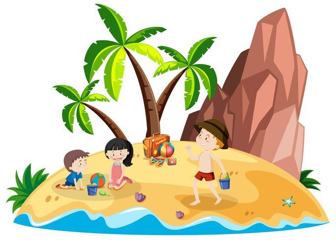 People on beach island