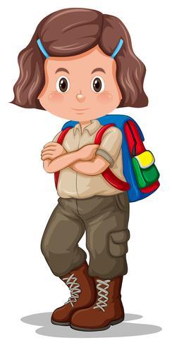 Ein Mädchen mit Pfadfinderuniform