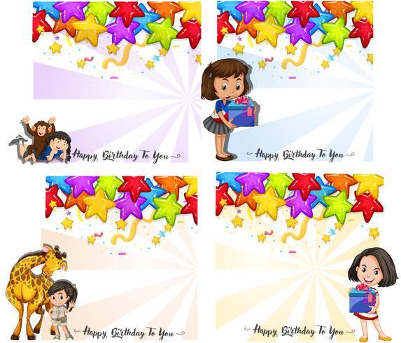 Set of birthday card