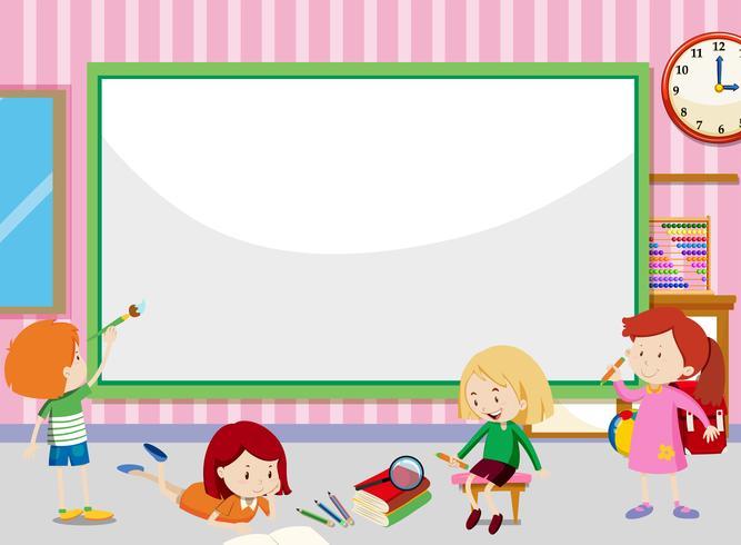 Estudante na sala de aula