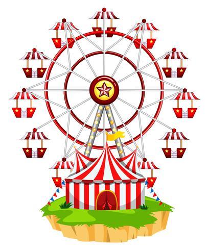 Ferris wheel on island