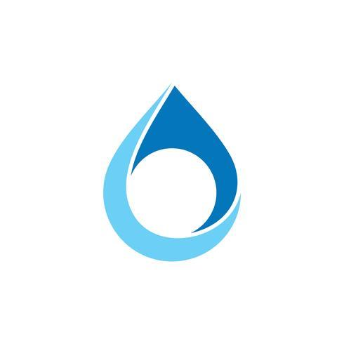 Drop Water Natural Logo Mall Illustration Design. Vektor EPS 10.