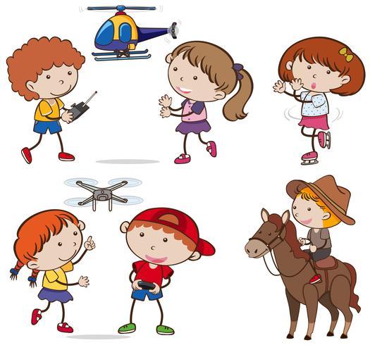A Set of Kids doing Activities